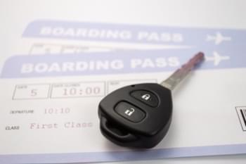 Chiave dell'automobile quando si accetta l'auto a noleggio