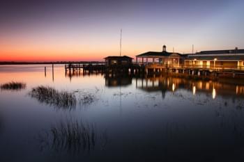 Blick auf Jekyll Island in Georgia