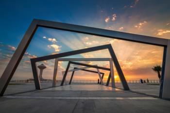 Fantastico sorgere del sole in Arabia Saudita
