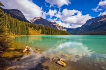 Lac Emeraude Lake Emerald Canada