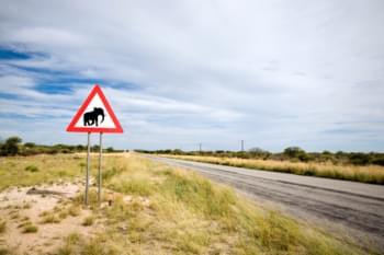 Verkehrsschild Südafrika