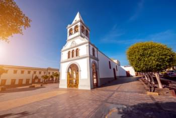 La Iglesia de Nuestra Señora del Rosario en Puerto del Rosario en Fuerteventura