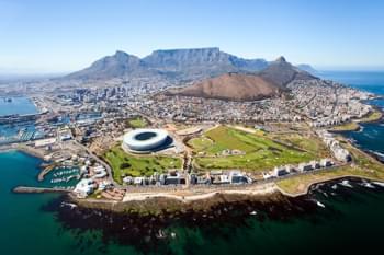 Vista de Ciudad del Cabo Sudáfrica
