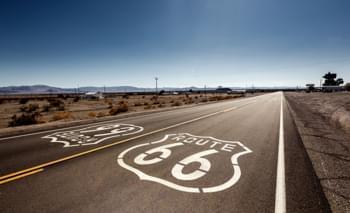 Mietwagen auf der Route 66 in den USA
