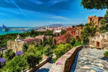 Blick auf die Stadt Malaga