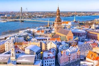 Blick über Riga, Lettland