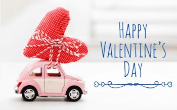 Mietwagen zum Valentinstag