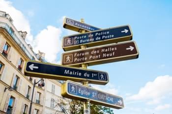 Signpost in Paris