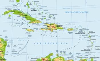 Landkarte karibische Inseln