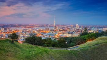 Blick über Auckland, Neuseeland