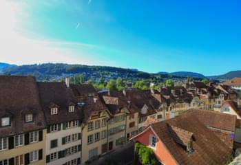 Blick über Aarau, Schweiz