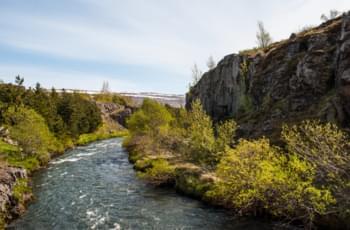Der Fluss Glera auf Island