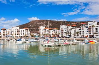 Mit dem leihwagen zum Hafen Agadir