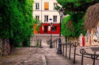 Sehenswerte Treppe in Montmartre