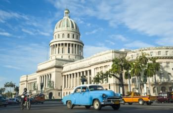 Discover Havana with a rental car and explore the Capitolio in Havana