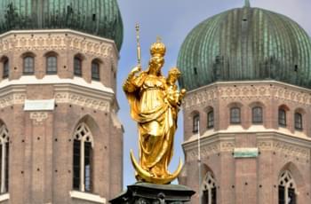 Torre en la Frauenkirche en Múnich