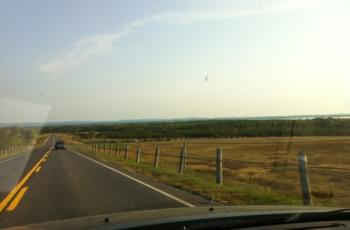 Straße im Grasslands Nationalpark