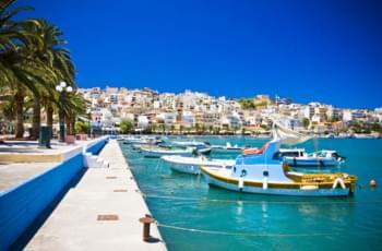 Küstenort Sitia Stadt in Griechenland