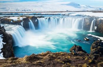 Cascada Godafoos en Islandia