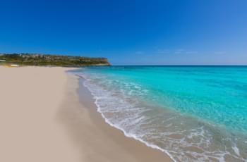 Weißer Strand auf Mallorca