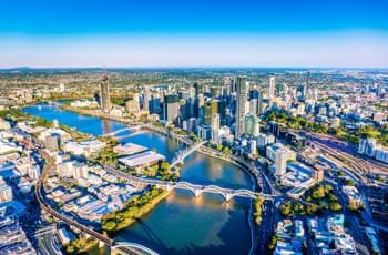 Luftaufnahme von Brisbane, Queensland