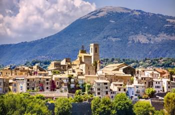 Die Stadt Grasse in Frankreich