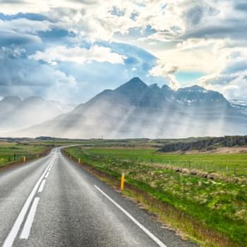 Mietwagen Island: Alles rund um den Straßenverkehr