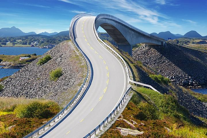 Atlantikstrasse in Norwegen