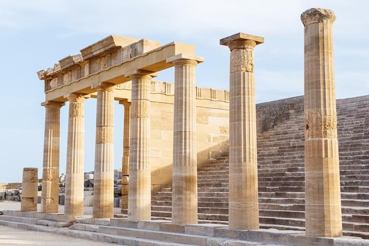 Acrópolis en Lindos, Rodas