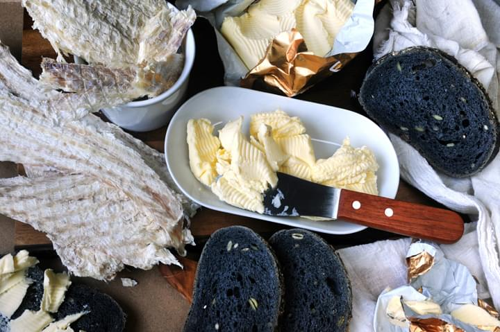 Plato de pescado tradicional islandés