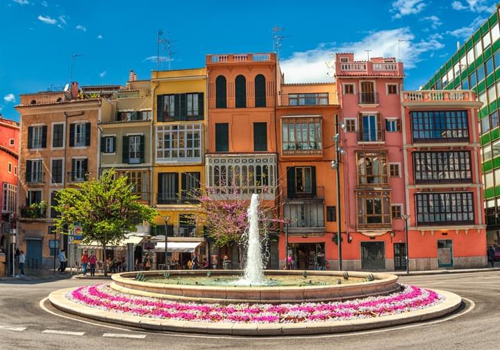 Edificios de colores Palma de Mallorca