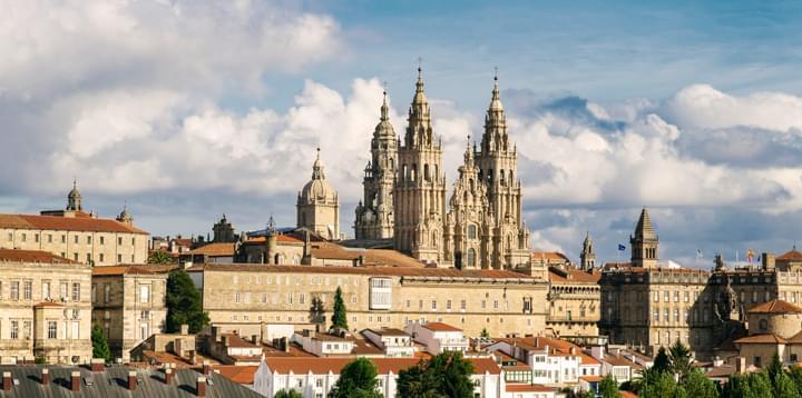 Blick über Santiago de Compostela