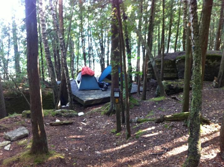 Zelten im Wald