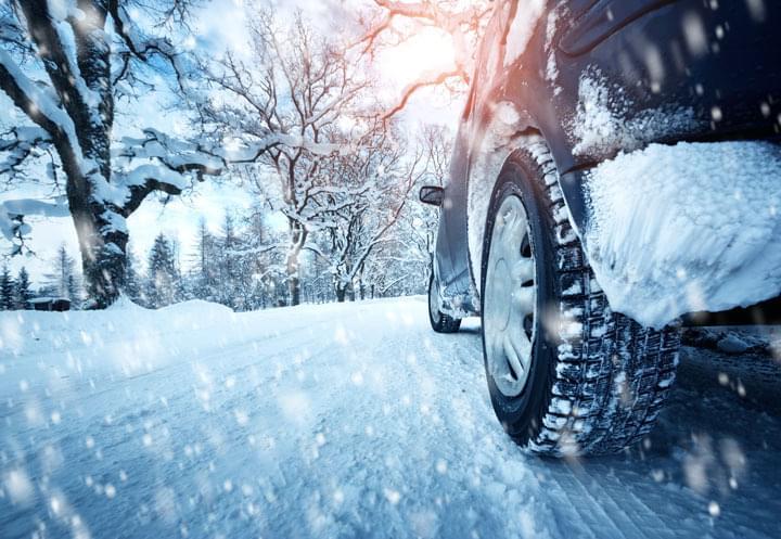 Mit dem Mietwagen durch den Winter