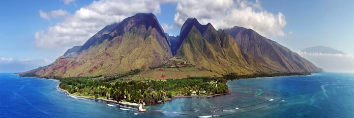 Panorama Aufnahme der Insel Maui Hawaii