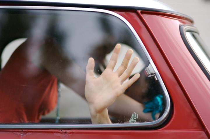 Pärchen im Auto