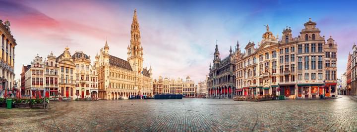 Grande mercato a Bruxelles, Belgio