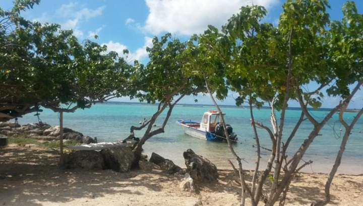 Der Strand von Saint-Francois