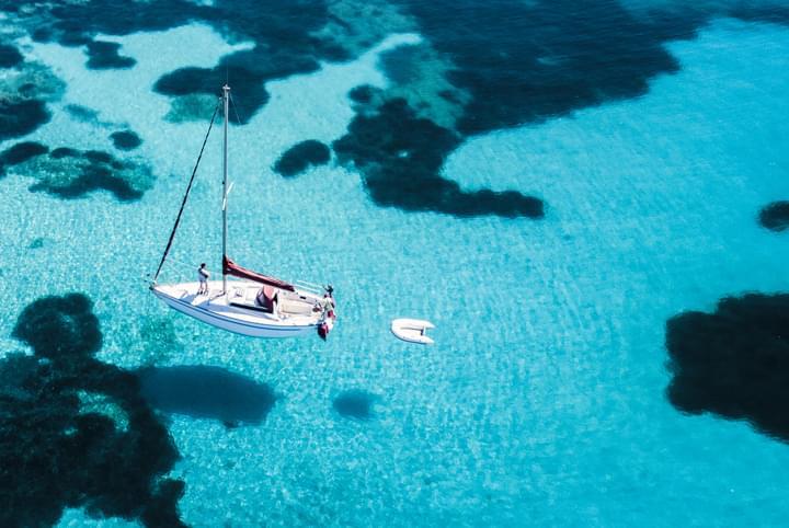 Segelboot in Sardinien