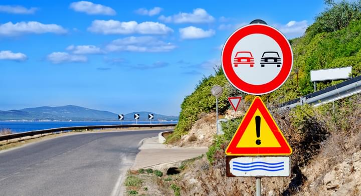 panneau de signalisation, Sardaigne