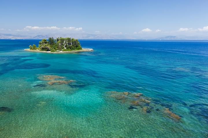 Insel in Korfu