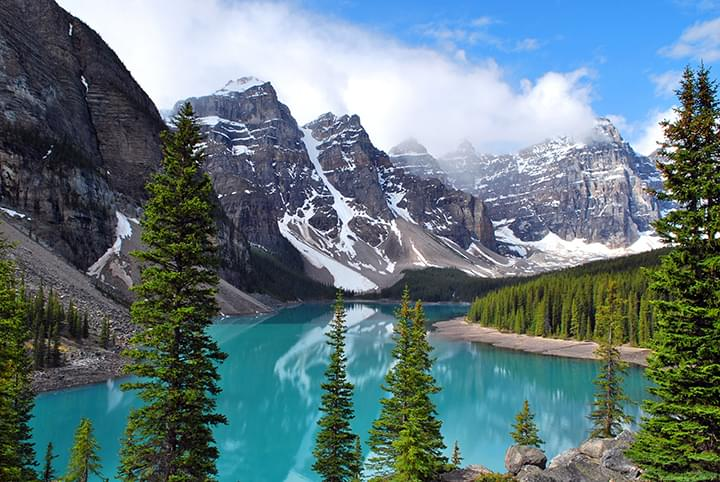Lago Moraine en Canadá