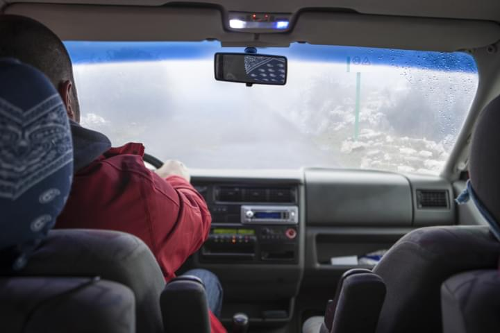 Nebel beim Auto fahren