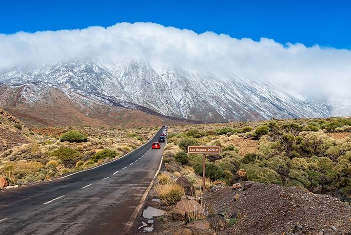 Conduciendo en coche de alquiler en Tenerife