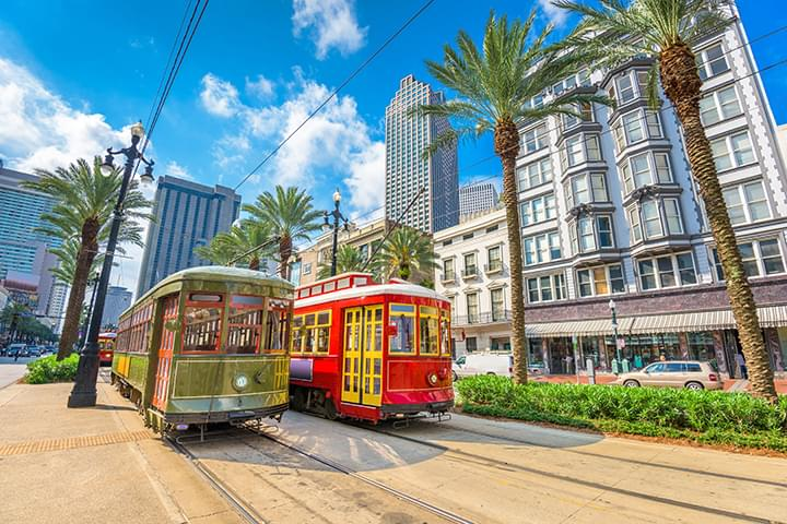 Tram in New Orleans