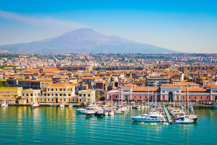 Vista de Catania, Sicilia