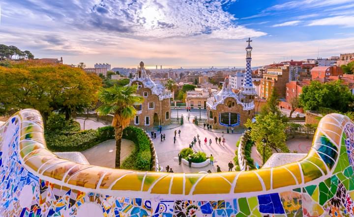 Park Güell en Barcelona