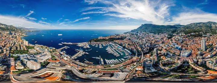 Blick über den Hafen von Monaco