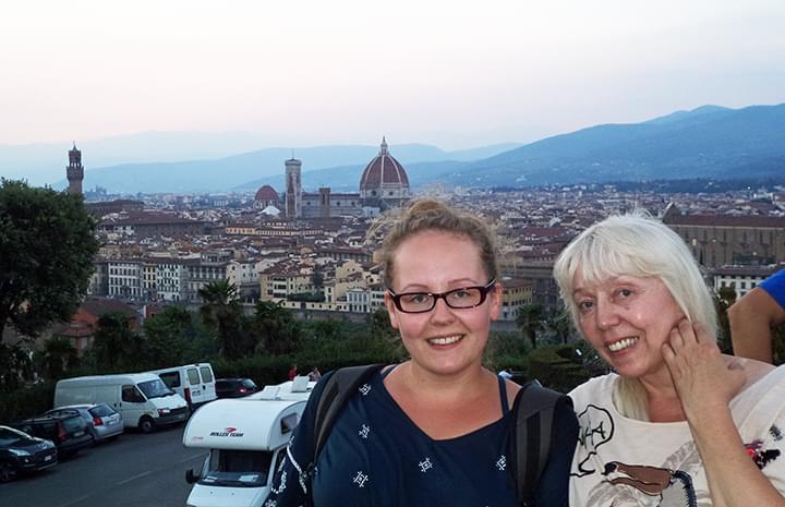 Blick auf Florenz vom Piazzale Michelangelo
