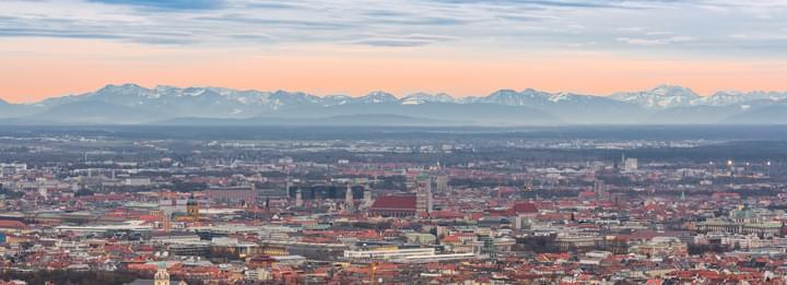 München mit Bergen